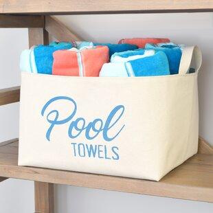 Pool Towels Storage Bin