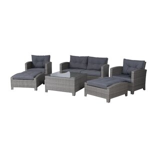 Burley 7 Piece Rattan Sectional Seating Group with Cushions