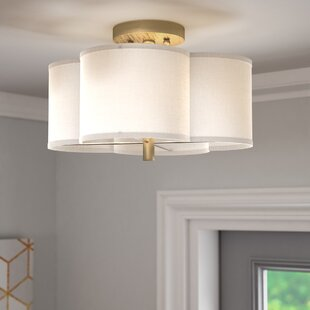 Willa Arlo Interiors Harriett Scalloped Semi Flush Mount