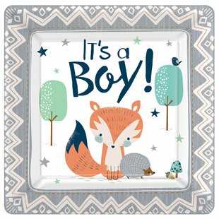 Bear-ly Wait Baby Shower Square Paper Appetizer Plate (Set of 5)