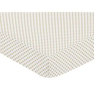 Reviews Watercolor Floral Mini Polka Dot Fitted Crib Sheet BySweet Jojo Designs