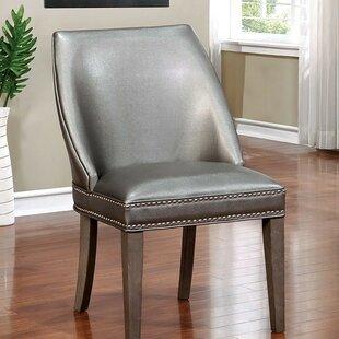 Rosdorf Park Jazmine Wingback Upholstered Dining Chair (Set of 2)
