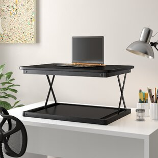 Change Desk Mini Height Adjustable Standing Desk Converter by Symple Stuff Modern