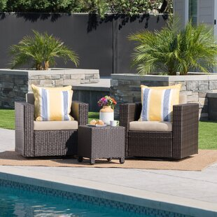 Jemaine 3 Piece Conversation Set with Cushions