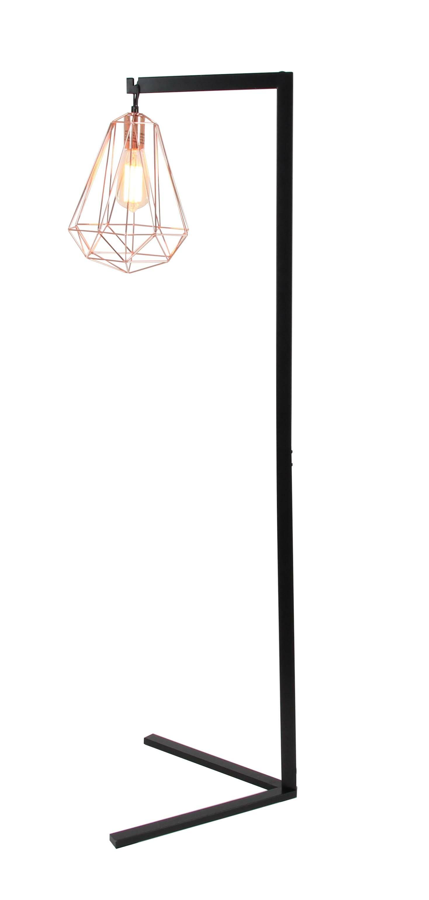 Metal wire 55 task floor lamp reviews allmodern greentooth Images
