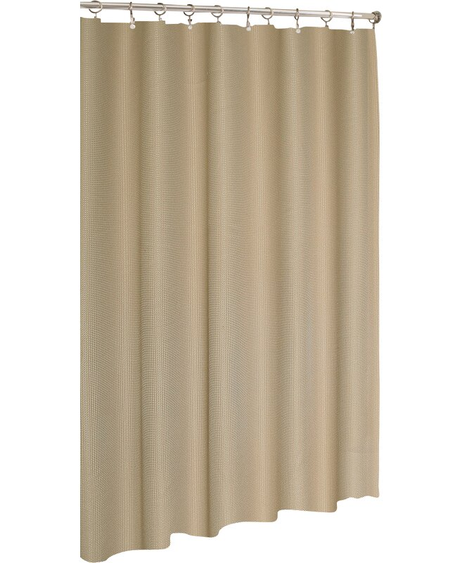 Zella Hotel Waffle Single Shower Curtain