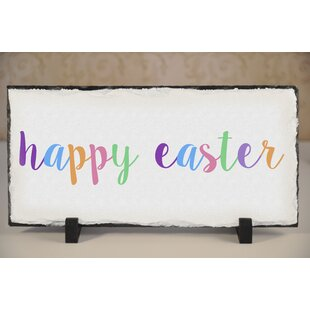 Cypress Happy Easter Slate Garden Plaque by The Holiday Aisle