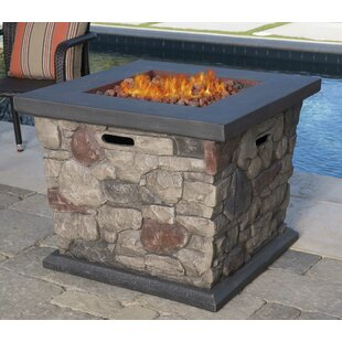 17 Stories Cool Stone Propane Fire Pit Ta..