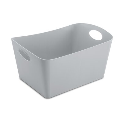 Turn on the Brights Rectangular Plastic Storage Bin Color: Cool Gray, Size: 9.3 H x 19 W x 12.2 D