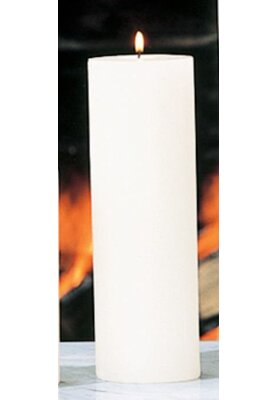 Beachcrest Home Unscented Ivory Pillar Candle Size: 3 x 9