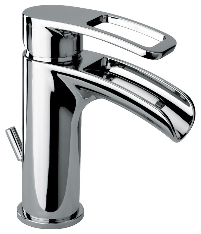 Jewel Faucets Single Hole Lavatory Faucet with Waterfall Spout ...
