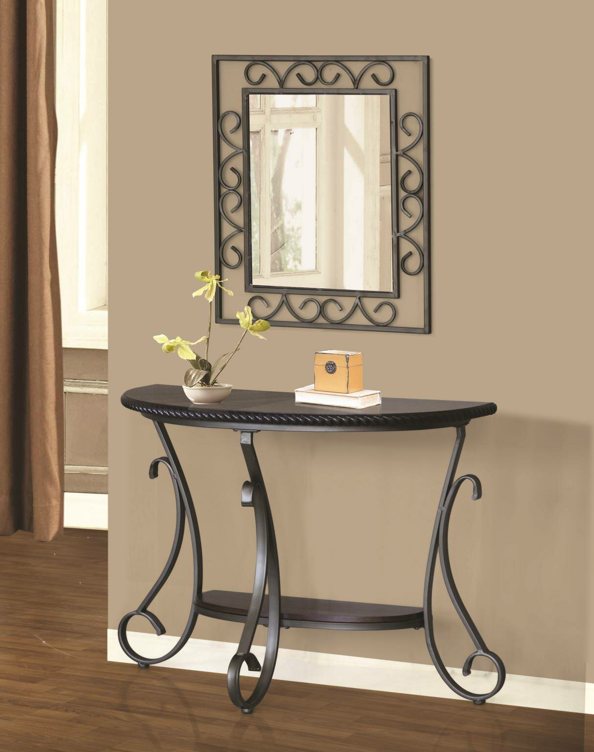 low priced 83963 f5386 Thomaston Half Moon Console Table and Mirror Set