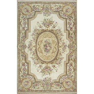 French Elegance Aubusson Fl Hand Tufted Wool Ivory Area Rug