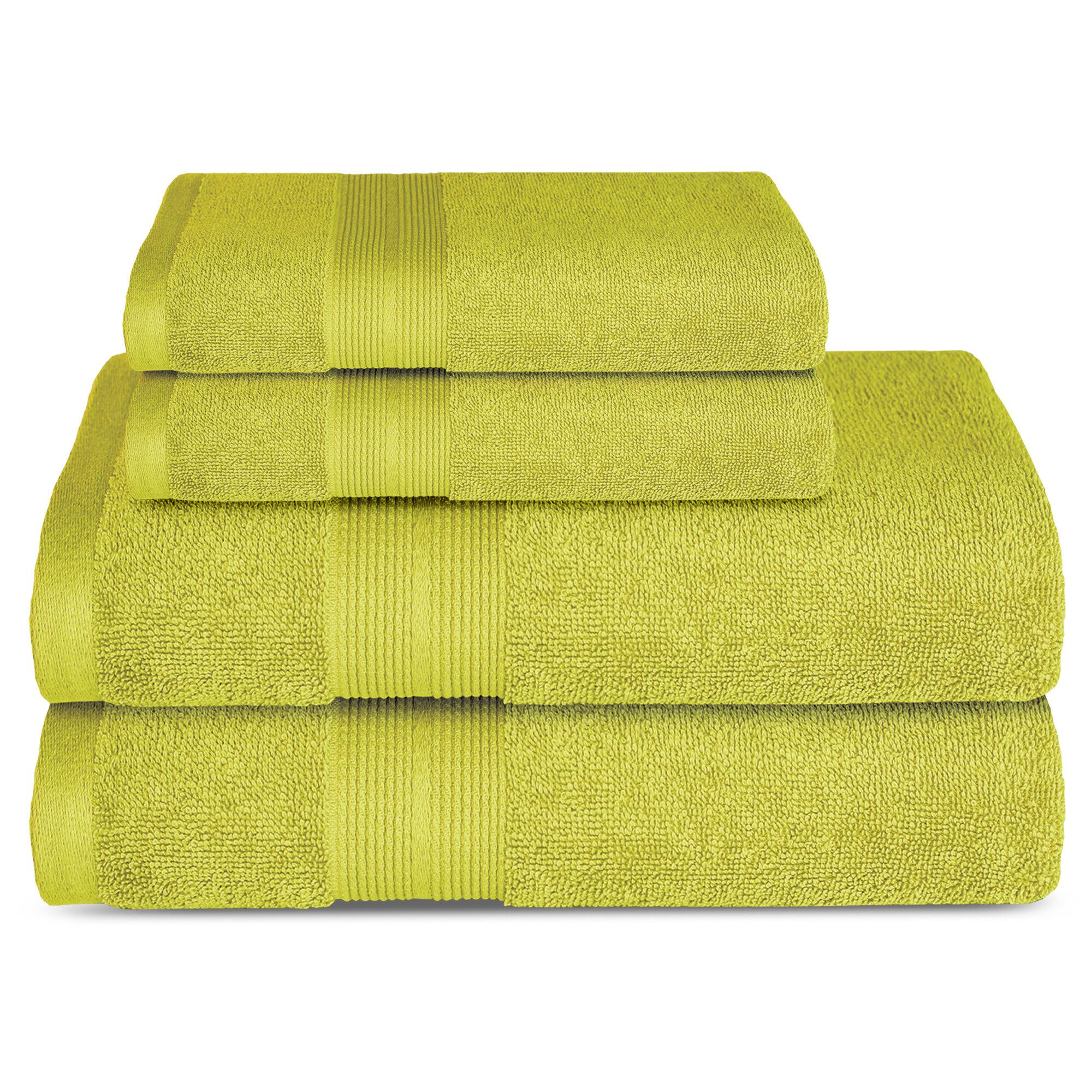 Lavish Touch 4 Piece 100 Cotton Towel Set Wayfair