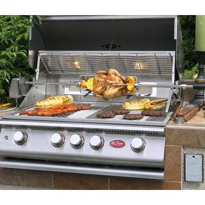 4-Burner Built In Propane Gas Grill with Cabinet