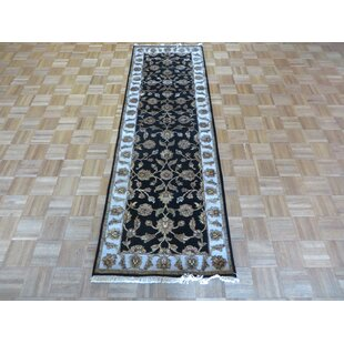 Best One-of-a-Kind Rhyne Hand-Knotted Wool Black Area Rug By Astoria Grand