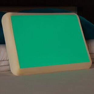 Comfort Revolution Glow in the Dark Memory Foam Gel Fiber Standard Pillow