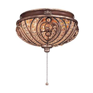Universal 2-Light Bowl Ceiling Fan Light Kit
