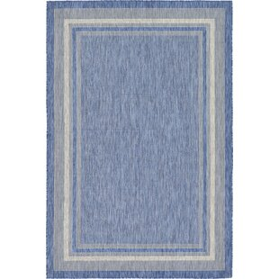 Delmont Blue Indoor/Outdoor Area Rug
