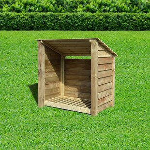 Strasburg 4 Ft. x 3 Ft. Wood Log Store by Lynton Garden
