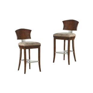 Wendelgard 30 Swivel Bar Stool (Set of 2) by World Menagerie