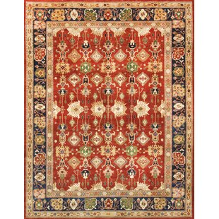 Comparison Sultanabad Hand-Knotted Wool Rust/Black Area Rug By Pasargad