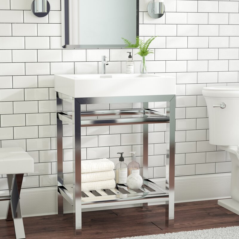 Ivy Bronx Halesowen Console 24 Single Bathroom Vanity Set Reviews Wayfair