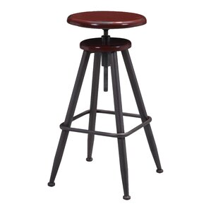 Moise Adjustable Height Swivel Bar Stool by 17 Stories