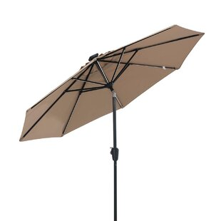 Brayden Studio Llanes 9' Lighted Umbrella