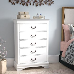 Tina 5 Drawer Wood Chest