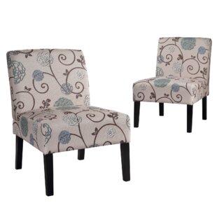 Chaudeville Slipper Chair Set of 2 by Red Barrel Studio