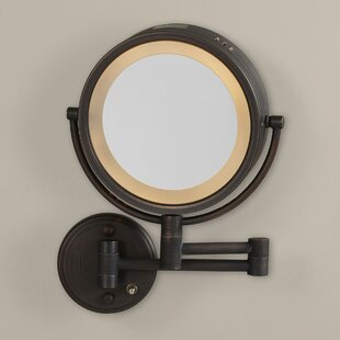 Check Prices Solley Dual Sided Wall Mount Halo Lighted Mirror ByDarby Home Co