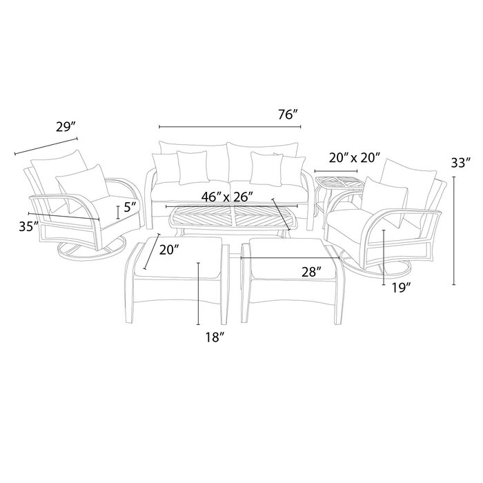 Astounding Cerralvo 7 Piece Sunbrella Sofa Set With Cushions Download Free Architecture Designs Xoliawazosbritishbridgeorg