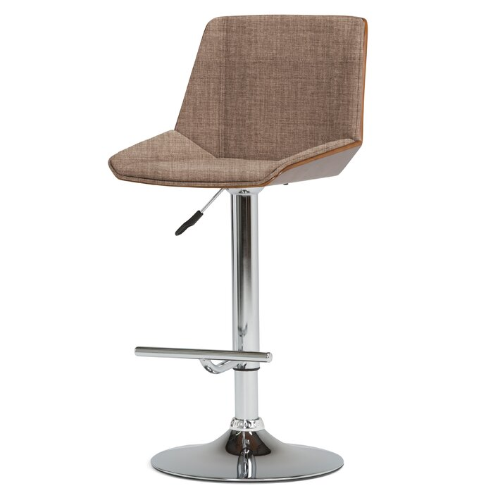 Fine Tollson Bentwood Gas Lift Height Adjustable Swivel Bar Stool Pabps2019 Chair Design Images Pabps2019Com