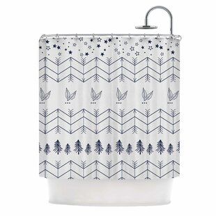 Famenxt Tribal Arrows Jungle Stars Single Shower Curtain