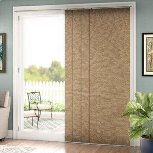 curtains over horizontal blinds hanging lloyd adjustable double rail vertical blind set of 4 patio sliding door blinds wayfair