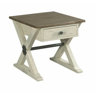 Wesley Trestle End Table with Storage