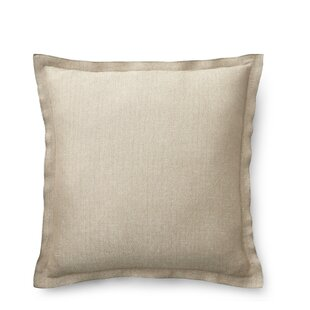 Metallic Herringbone Cotton Throw Pillow