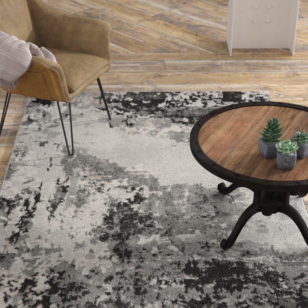 Williston Forge Altoona Modern Loom Gray Area Rug Reviews Wayfair