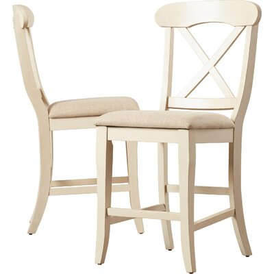 "Bridgeview 24"" Bar Stool (Set of 2) by Beachcrest Home"