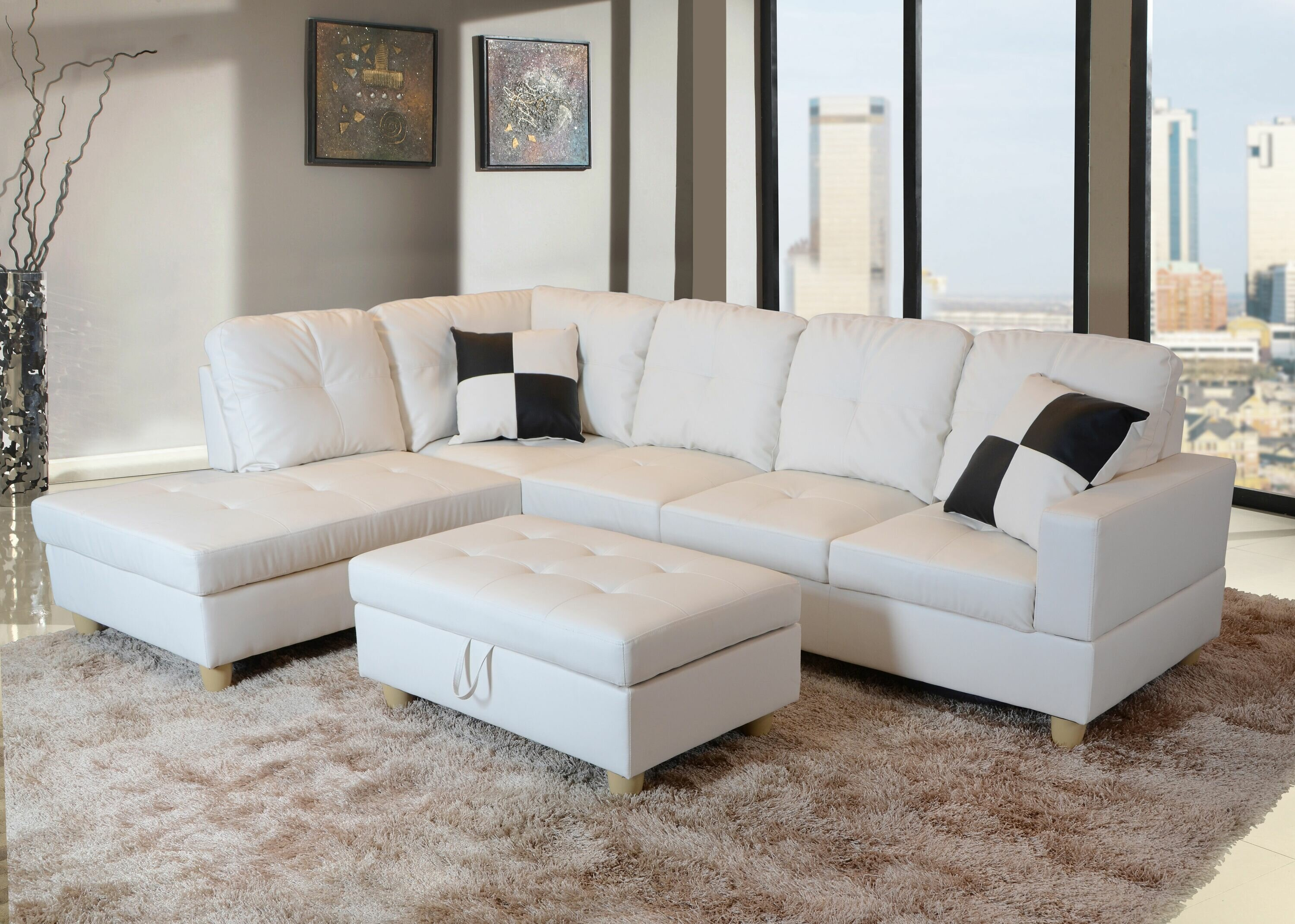 Marvelous Andover Mills Russ Sectional With Ottoman Alphanode Cool Chair Designs And Ideas Alphanodeonline