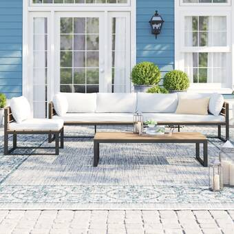 Krugerville 4 Piece Sofa Seating Group With Cushions Reviews Birch Lane