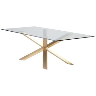 Boler Rectangular Glass Top Dining Table