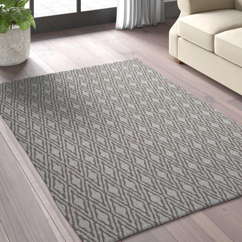 Greyleigh Brashear Geometric Handmade Tufted Charcoal Area Rug Reviews Wayfair