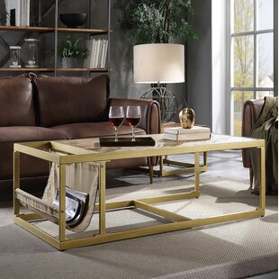 Pamela Sled Coffee Table with Storage