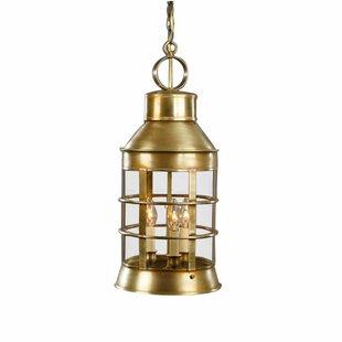Northeast Lantern Nautical 3-Light Outdoor Hanging Lantern