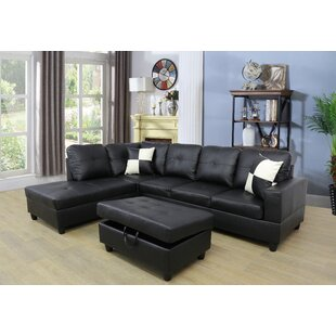 Omar Reversible Sectional with Ottoman