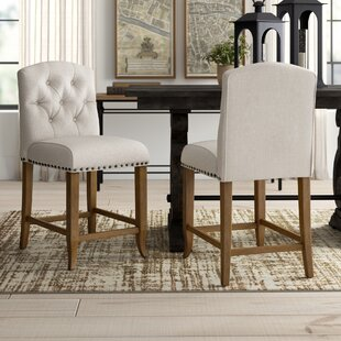 Lakeport Upholstered Bar Stool Set of 2 by Greyleigh