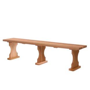 Hardwood Doweling Garden Bench