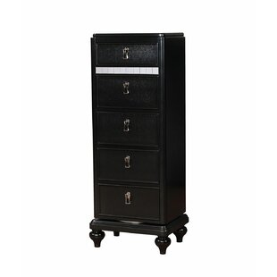 Evans Swivel 5 Drawer Lingerie Chest with Mirror